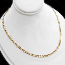 "20"" | 3.5mm MARINER Link 24k 14K Yellow GOLD GL Necklace | + LIFETIME GUARANTEE"