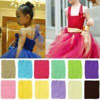 """6''/9"""" Girls Waistband Elastic Skirt Baby Tutu Costume Headband Crochet Tube Top"""
