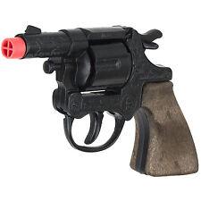 Die Cast Cap Gun 8-Shot  Snub Nose Police Revolver - Black Finish