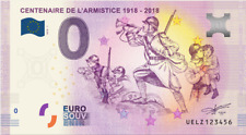 Billet zéro euro 0 € souvenir CENTENAIRE DE L'ARMISTICE 2018