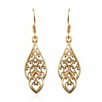 Drop Dangle Earrings 925 Sterling Silver 14K Yellow Gold Plated Gift for Women