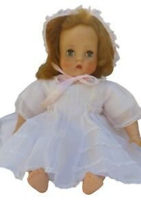 1950's Doll in Pink Dress and Matching Bonnet