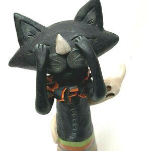 Janell Berryman Folk Art Halloween 2009 Hocus Pocus Fraidy Cat Pumpkinseed