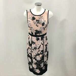 New with tags Phase Eight Dress UK12 Womens Peach Black Floral Party 293208