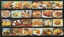 India 2017 Indian Food Cuisine Stamps Complete Set se-Tenant Stamps 24v