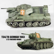 WWII  T34/76 GERMAN 1943 1/72 tank easy model finished non diecast