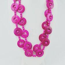 Boho Wood Disk Bead Pink 111-115 Maasai Market African Jewelry Handmade Necklace