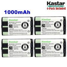 4xKastar Cordless Phone Battery NI-MH 3.6V 1000mAh For Panasonic HHR-P104 Type29