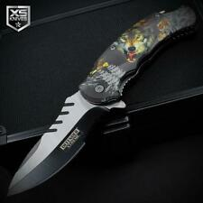 Raging Wolf Spring Open Assisted Pocket Knife Wolves Wilderness 3D Art Graphics