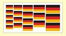 19 x Stück 5 Größen BRD Fahne Modellbau Deutschland Flagge Mini Aufkleber Flagge