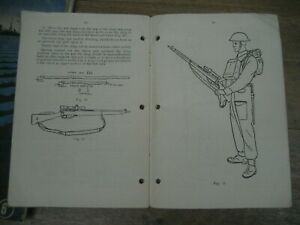 WW2 No.4 Lee Enfield Rifle manual, sniper, 32 scope SMLE. British Army manual