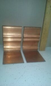 Chase copper bookends mid-century modern