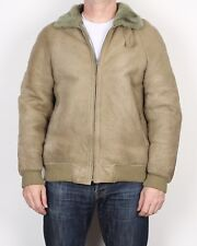"Sheepskin Aviator Bomber leather Jacket 42"" M / L   (95J)"