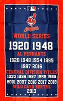 Cleveland Indians Championship Flag 3x5 ft MLB Sports Banner Man-Cave Garage New
