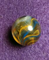 """SuperBoy Style RARE TRI-ONYX TIGHT BRICK .76"""" Contemporary New Vintage Marbles"""