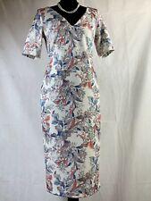 Per Una Floral Multi-coloured V-Neck Office/work Women's Dress Size 10