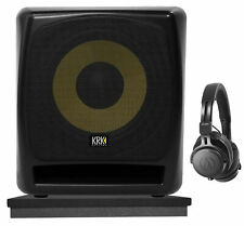 "KRK 12S v2 12"" 240w Powered Active Studio Subwoofer+Headphones+Acoustic Riser"