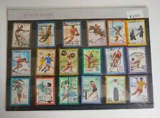 Japan Stamps - sports series. Various used Japanese  stamps, still in packaging.