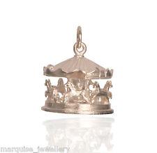 925 argento Sterling Charm da Fiera Cavallo Giostra Ciondolo. rotazione.