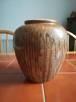 West German Scheurich Ceramics with a very nice drip glaze. Good condition.