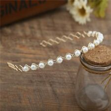Fashion Pearl Crystal Ladies Head Piece Party Accessories Hair Band Wedding