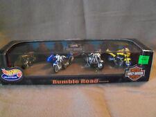 1999 Mattel Hot Wheels Harley Davidson Rumble Road Motorcycle Set, Nrfb