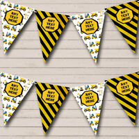 Party Banner Bunting Construction Digger Tractor Children's Birthday
