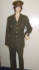 Para Hombre Segunda Guerra Mundial 1940s tiempo de guerra oficial del ejército británico Disfraz Elaborado Vestido de uniforme M utilizado