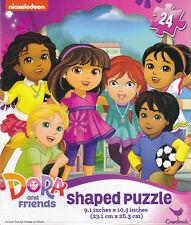 "Jigsaw Puzzle DORA THE EXPLORER Shell Shaped 24 Pcs 9"" x 10"" Cardinal S4"