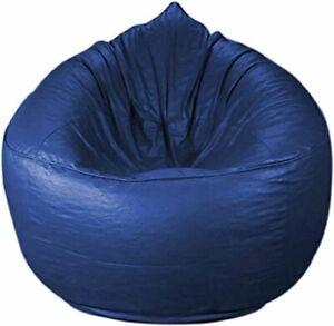 Comfort Bean Bag Cover Blue Leatherette L-XXXL Size Seat Home Room Kid