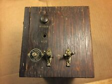 Western Electric Wooden Box E350 Telephone Item w/ 21D Condenser Capacitor