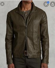 John Varvatos Resin Coated Linen Jacket Brown EU54 MSRP: $998