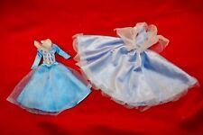 """Disney Muñeca Vintage Raro Mini 6"""" han rsion ropa 2 Azul Etiqueta vestidos de cenicienta"""
