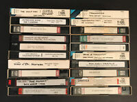 20 Used Blank VHS Tapes Lot - Labeled Horror and Monster Movies - Sold As Blanks