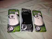 Golf gloves NEW lot of 3 FootJoy! Black WinterSof pair and 2 white WeatherSof