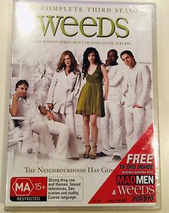 WEEDS : Season 3 DVD Set TV Series - Brand New SEALED DVD  3-Disc Set