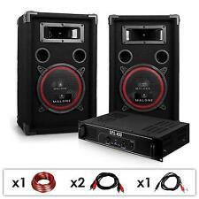 PACK SONO DJ PA DJ12 AMPLI & 2 ENCEINTES 1000W GELUIDSSYSTEEM LUIDSPREKER SET