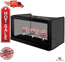 Auto Reset AirSoft Targets Game Removable Mesh Trap Automaticaly Return Target