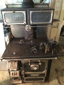 Vintage Majestic Cook Stove Antique Wood Oven