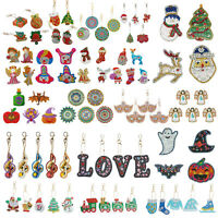 5D DIY Diamond Painting Christmas Key Chains Keyring Handmade Keychain Decor