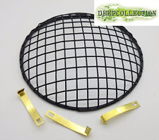 """Protractive Headlight headlamp Grill 7"""" mesh Grill For Car Motorcycle ATV squad"""