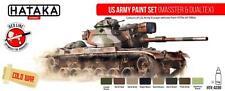 New ListingHataka Hobby Paints Us Army (Masster & Dualtex) Colors Acrylic Paint Set
