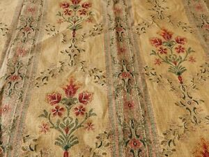 """French Country Woven Tapestry Florals & Scrolls Lined Single Curtain 63""""d x 78""""w"""