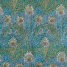 Cowl/snood in Liberty Tana Lawn cotton 'Hera' Peacock Feathers turquoise orange