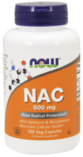 Now Foods NAC N-acetyl Cysteine 600 MG 100 Vcaps