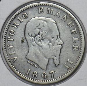 Italy 1867 Lira 194748 combine