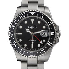 Parnis 40mm Sapphire Glass 2813 Movement Men Automatic GMT Watch Ceramic Bezel
