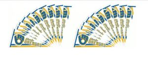 """Lot of 20 Vintage 1980s MLB Milwaukee Brewers Old Logo 7"""" Pennant Window Cling"""