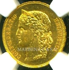 SWITZERLAND 1890 B GOLD COIN 20 FRANCS * NGC CERTIFIED GENUINE MS 61 * AMAZING