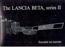 LANCIA BETA SERIES II BROCHURE.